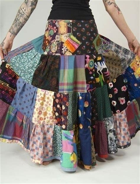Patchwork Clothing - 17 best ideas about patchwork skirts on