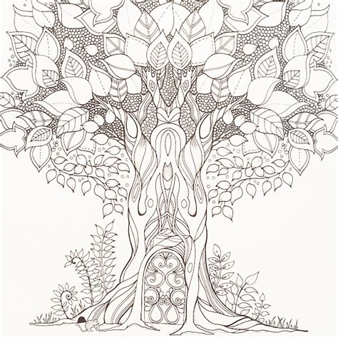 coloring book for adults johanna basford a whimsical tree out to be coloured by johanna
