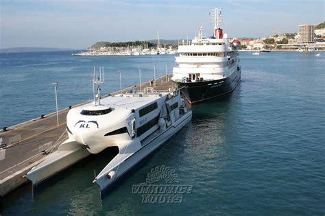 ferry catamaran novalja modern 237 loď z uhl 237 kov 253 ch vl 225 ken bude jezdit na lince z
