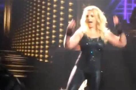 Britneys Falls Out by Hair Extensions Fall Out During Vegas