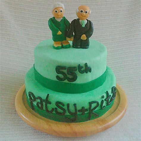55th wedding anniversary cake, vanilla sponge, raspberry