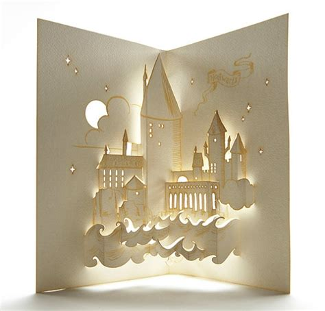 harry potter pop up card template this hogwarts pop up is truly a work of draw