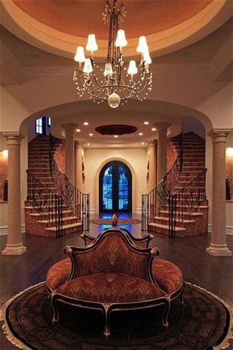 ceiling rotunda spanish style stairs twin staircases