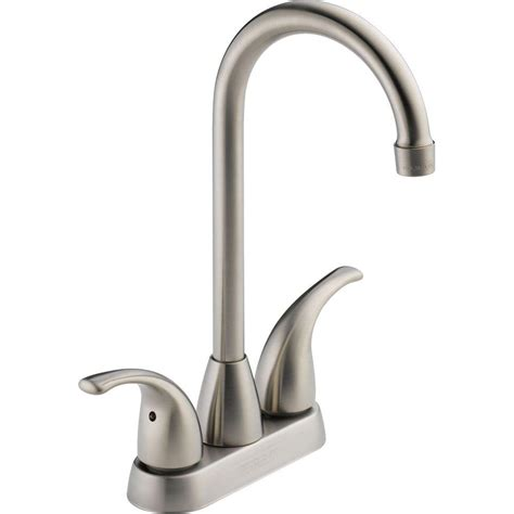 restaurant kitchen faucets peerless choice 2 handle bar faucet in stainless p288lf ss the home depot