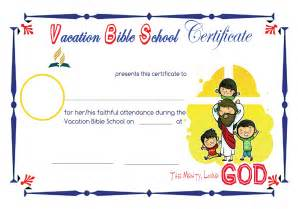 vbs certificate template vbs certificate template vacation bible school
