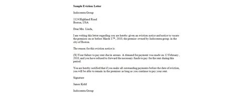 best photos of landlord eviction letter sle sle