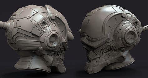 helmet design zbrush victor gaza digital portfolio july 2015