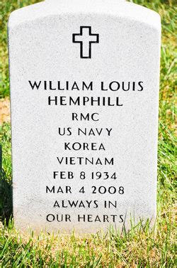 prince william county section 8 william louis hemphill 1934 2008 find a grave memorial