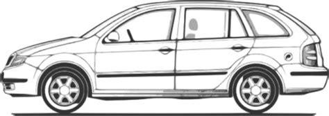 Auto Von Der Seite by 車コンパクト ファビア サイドビュー クリップアート ベクター クリップ アート 無料ベクター 無料素材