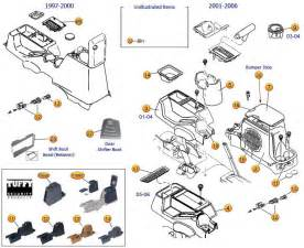 interactive diagram jeep console parts for wrangler tj
