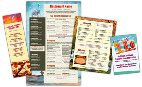 restaurant design maker easy menu design online menu templates from the menu maker