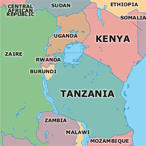 east africa map map east africa region