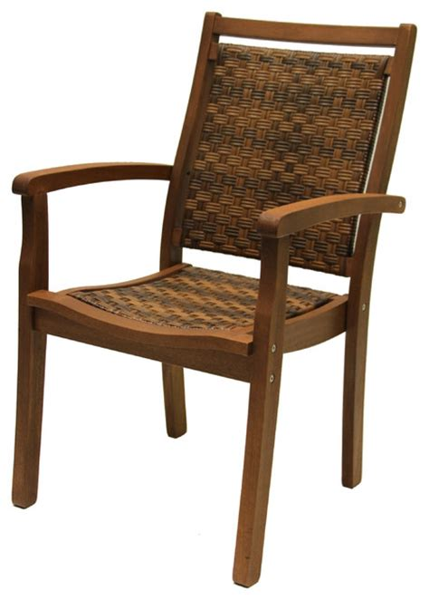 stackable resin wicker chairs stackable resin wicker and eucalyptus armchair armchairs