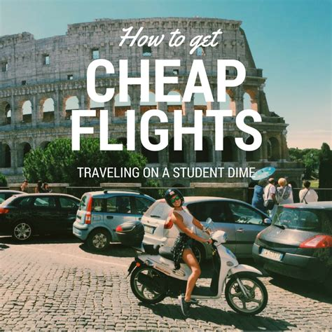 how to get cheap flights traveling on a student dime mod med