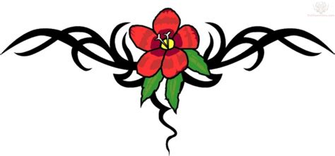 flower tribal tattoo designs tribal lily flowers tattoo