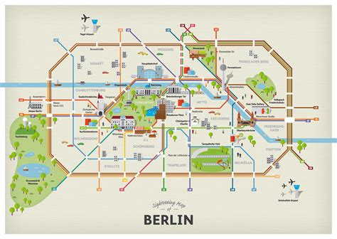 map of attractions sightseeing map of berlin attractions getyourguide