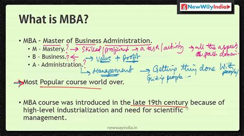 Definition Of Mba In by Mba 101 What Is Mba Best Mba Lectures For Beginners