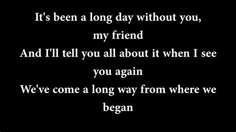 charlie puth see you again lyrics see you again wiz khalifa ft charlie puth lyrics youtube