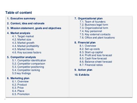 simple business plan template by ex deloitte consultants