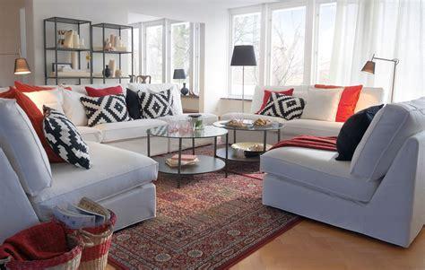 Ikea Living Room Catalogue simple details ikea black white pillows