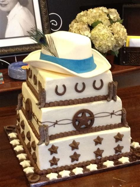 white cowboy hat cake western cakes  cakes birthday