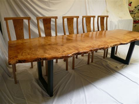 pippy oak slab table with metal base chairs quercus