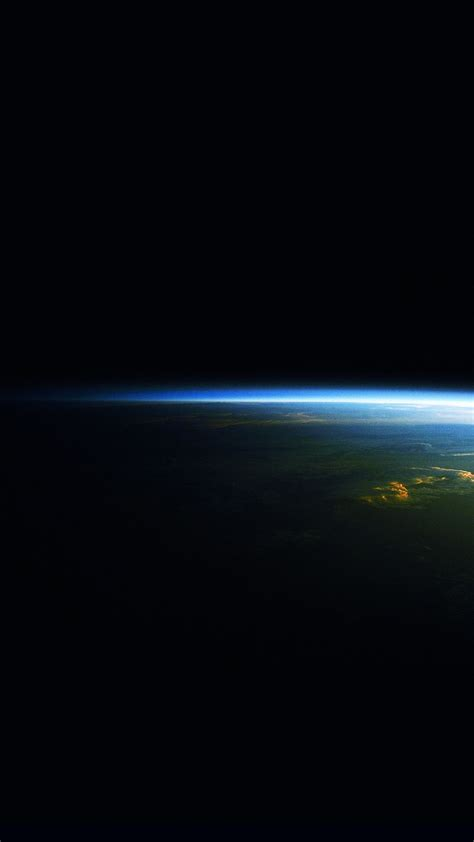 earth  night horizon space blue light android wallpaper
