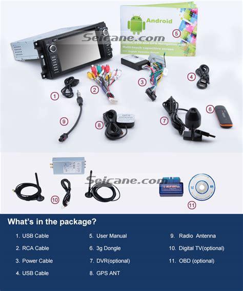 Navigation System For Jeep Wrangler Unlimited Android 4 4 Car A V Dvd Navigation System For 2007 2008