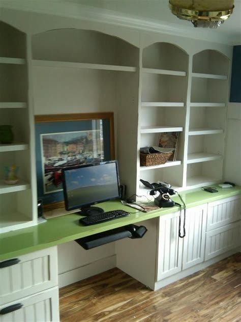 Built In Desk Ideas For Small Spaces Wall Units Astonishing Bookshelves And Desk Built In Diy Built In Desk And Bookshelves