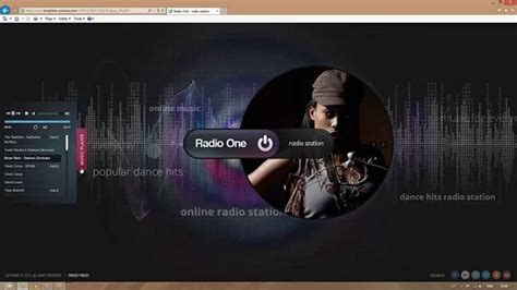 html5 player template radio station html5 template
