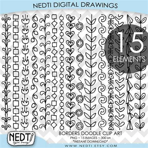 how to draw doodle borders borders doodle clip border clipart drawing png