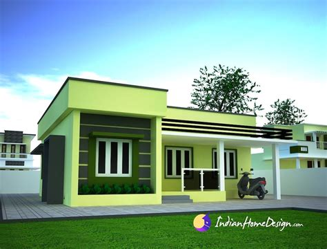 Single Level Tiny House by Small Single Floor Simple Home Design By Niyas