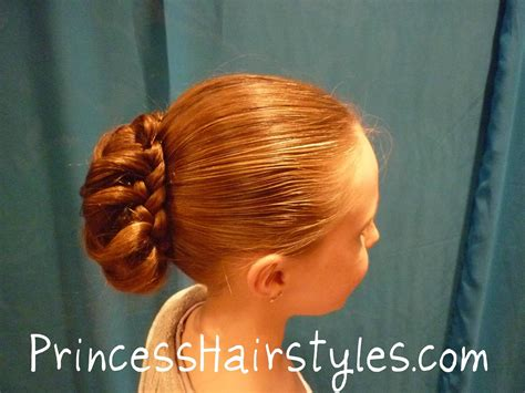 hairstyles buns youtube braid wrapped bun updo chignon hairstyles youtube