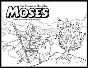 heroes bible coloring pages moses