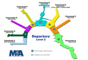 Miami Terminal Map by Mia International Airport Map Pictures To Pin On Pinterest