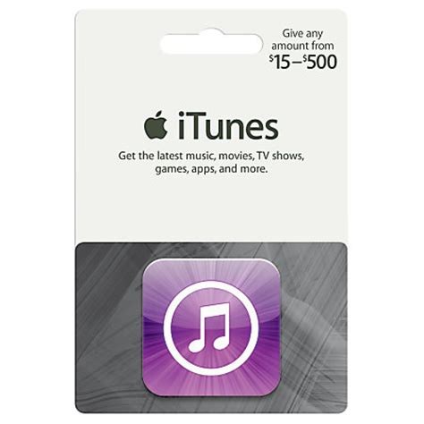 Itunes 15 Gift Card - itunes 15 500 gift card itunes icon amount choice by office depot officemax