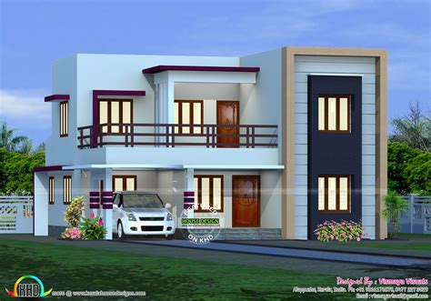 1300 square feet 4 bedroom house plan kerala home 1300 sq ft 2 bedroom home plans with flat roof joy