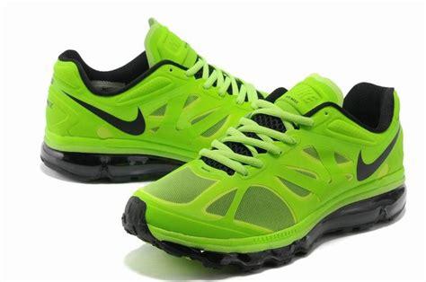 nike air max 2012 running shoes neon green black cheap