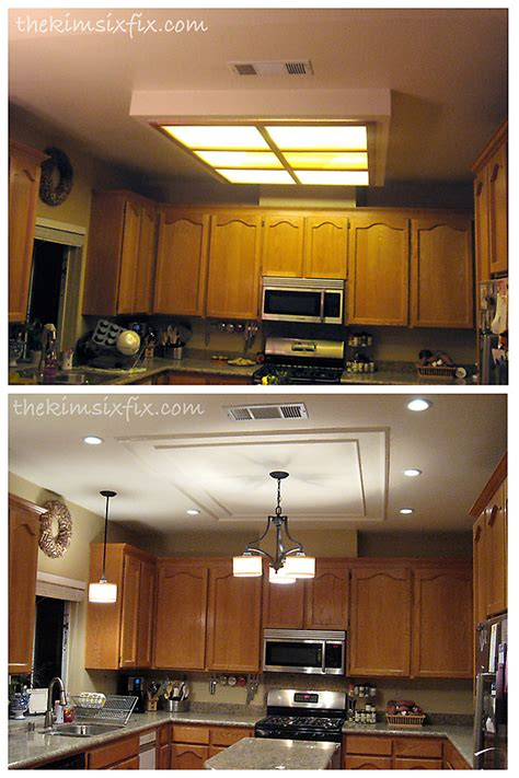 replacing fluorescent light in kitchen hometalk replacing updating fluorescent ceiling box