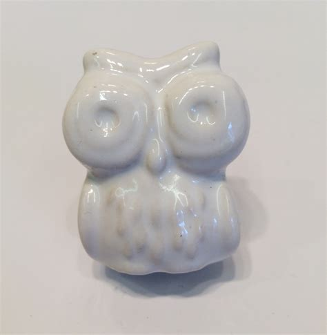 wise owl ceramic door knob white cupboard knobs door