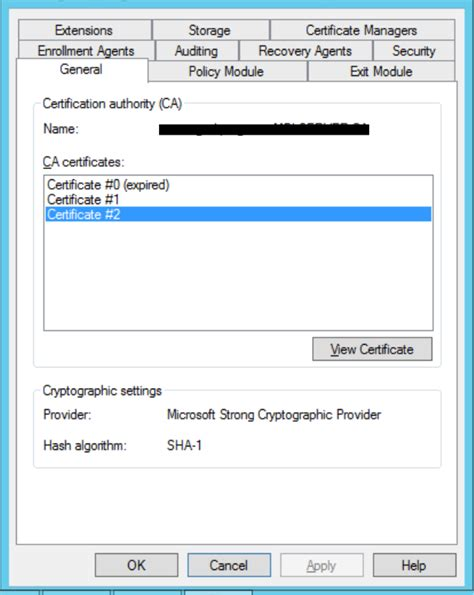 certificate authority templates certification authority certificate templates element not