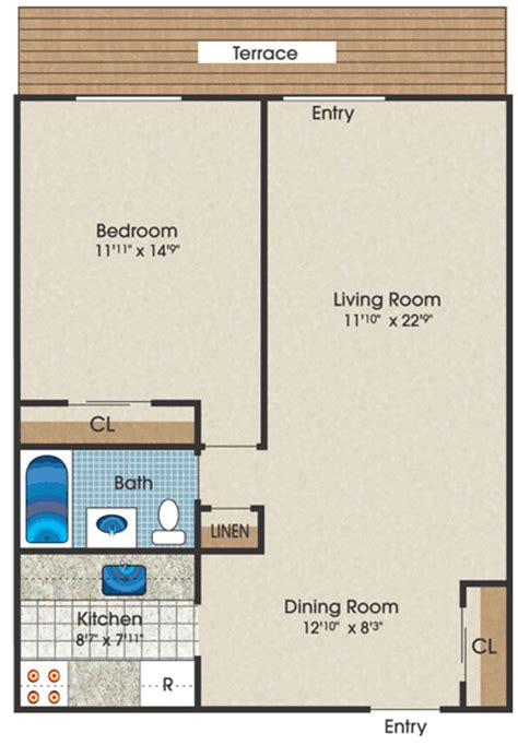 Small Apartment Floor Plans One Bedroom Small Studio Apartment Design Plan Apartment Design Ideas