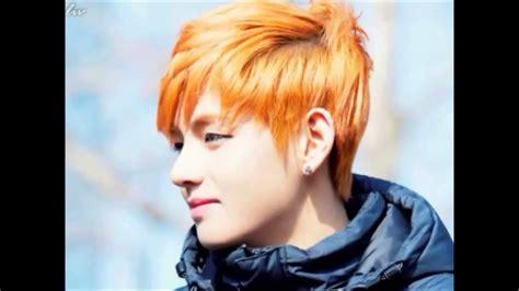 kim taehyung orange hair kim taehyung x youtube