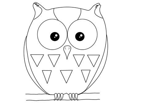 Owl Image Outline by Owl Outline