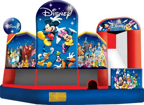 Disney Bounce House by World Of Disney 5 In 1 Combo Bouncehouses