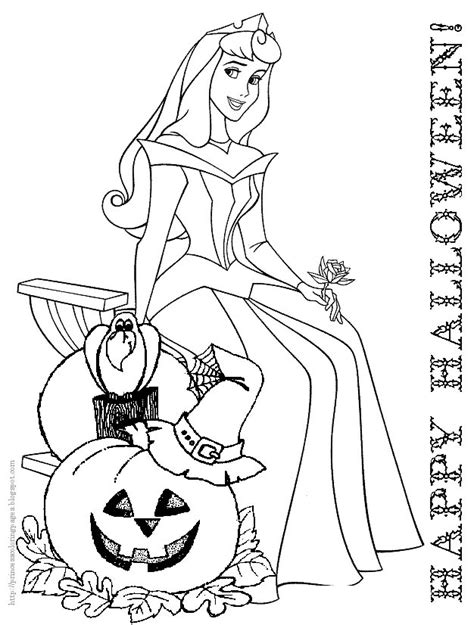 Coloring Pages Halloween Princess | halloween coloring page princess belle disney