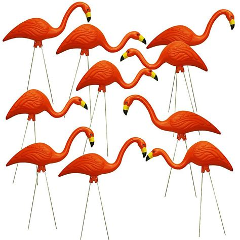 southern patio teamingos 26 in orange flamingo 10 pack