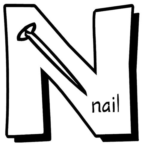 coloring pages for the letter n free coloring pages of n is for