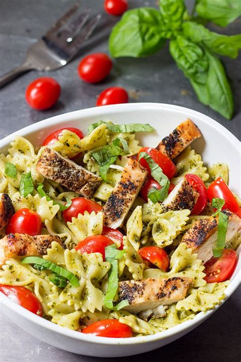 6 cold pasta salads for your summer dinners our holly days pesto pasta with grilled chicken recipe pesto pasta