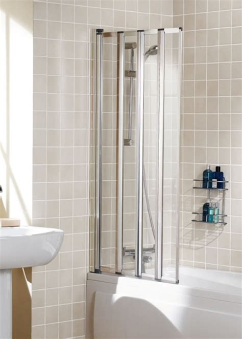 730mm Shower Door Lakes Classic Silver 730mm Framed 4 Panel Bath Shower Screen